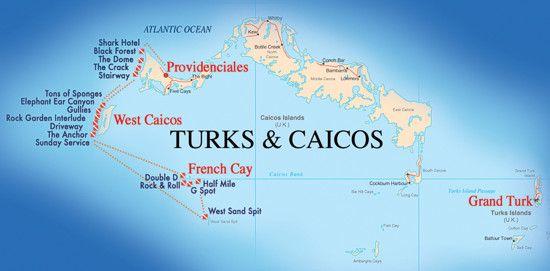 French Cay Map