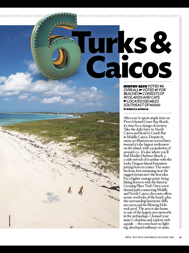 Turks & Caicos The #6 Island In The Caribbean And #1 Beach Grace Bay Beach –