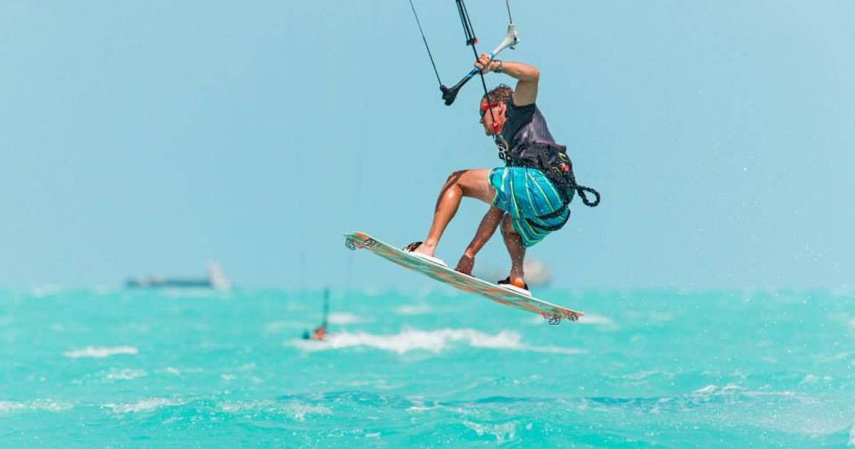 Kitesurfing while visiting Turks and Caicos