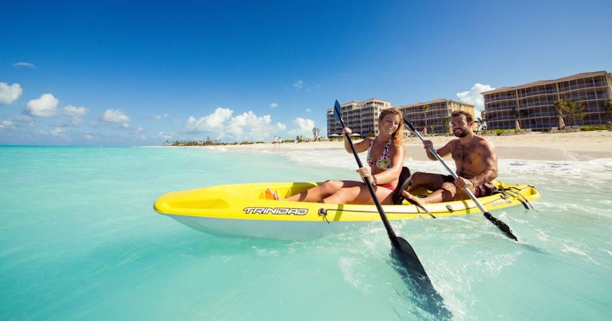 Kayaking while visiting Turks and Caicos