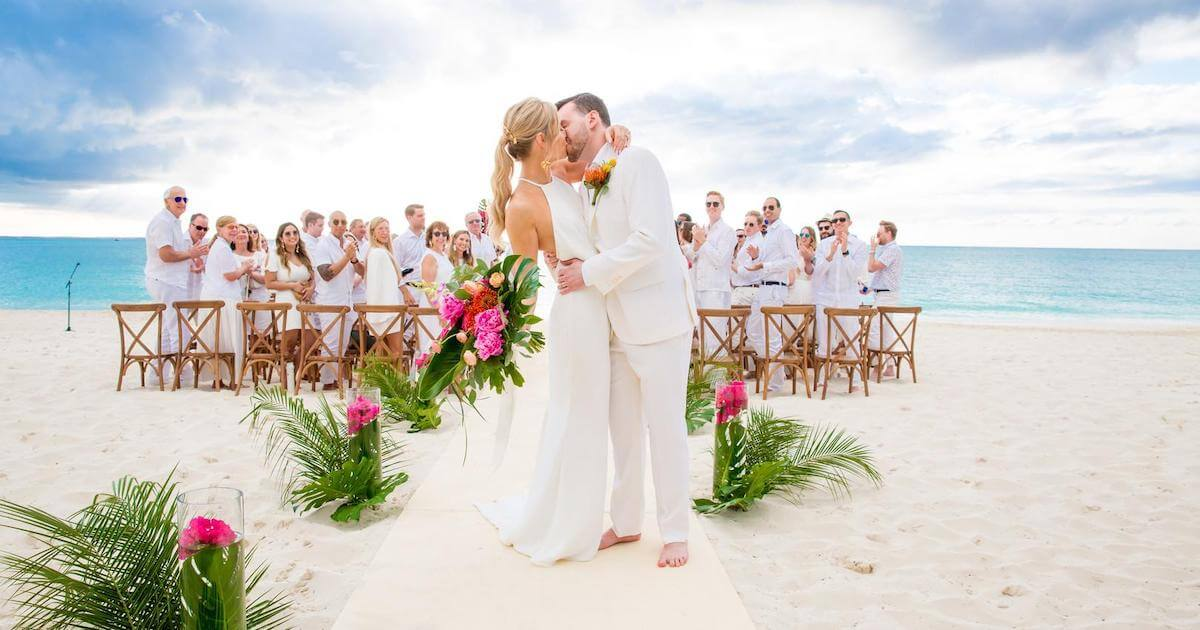 a destination wedding in Turks and Caicos: Happily Ever After